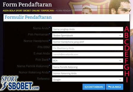Panduan daftar di dalam situs agen resmi sbobet online